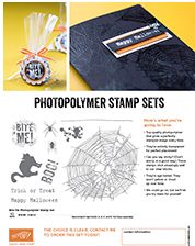 Stampin' Up! new Halloween Photopolymer stamp set, Bite Me