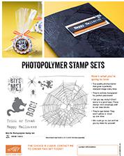 Stampin' Up! new Halloween Photopolymer stamp set, Bite Me