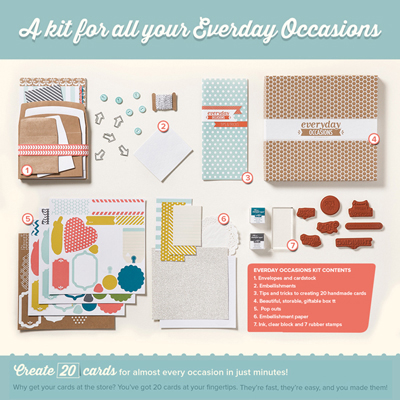 new stampin up everyday occasions cardmaking kit, dostamping, dawn olchefske (kit contents)