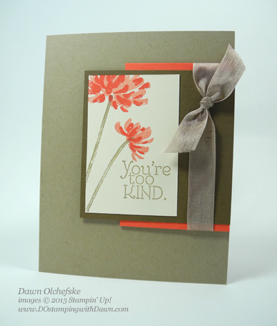 #quick&cute, Dawn Olchefske, DOstamping, Stampin' Up! Too Kind stamp set, World Cardmaking Day, #wcmd2013