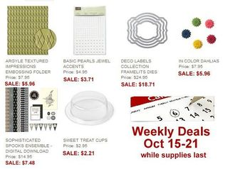 10-15 Stampin' Up! Weekly Deals, Dawn Olchefske, DOstamping