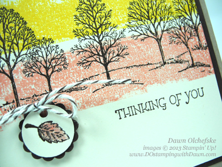 Dawn Olchefske, DOstamping, Painters Tape Stamping Video, Stampin' Up! Lovely as a Tree