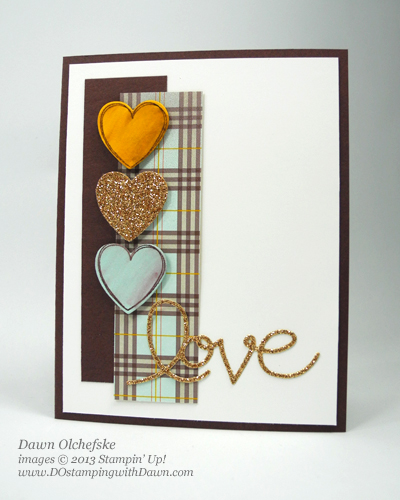 Dawn Olchefske, DOstamping, Expression Thinlits, Hearts a Flutter stamps & Framelit, Stampin' Up!, Sweater Weather