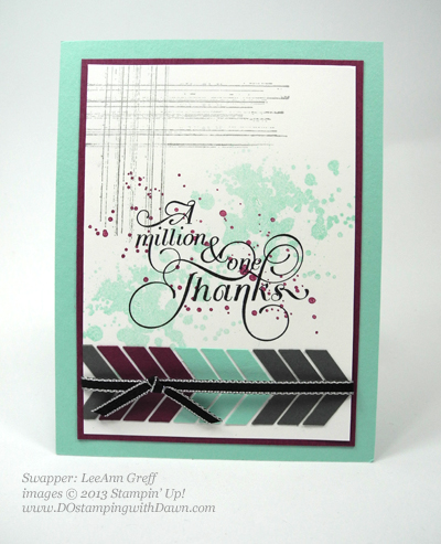 dostamping, dawn olchefske, stampin up, 25% off stamps, gorgeous grunge, leeann greff founders circle swap