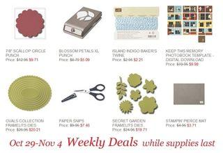Stampin' Up!, Dawn Olchefske, DOstamping, Weekly Deals for 10/29