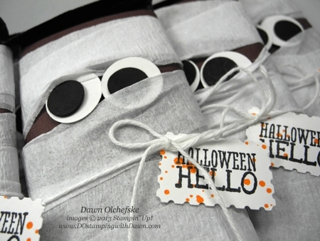 DOstamping, Dawn Olchefske, Mummy Candy Bar Wraps, Stampin' Up! Halloween Hello