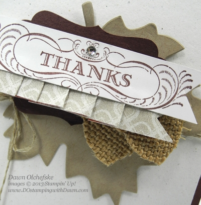DOstamping, Dawn Olchefske, Stampin' Up! Autumn Accents Die, Greetings of the Season stamp set, Burlap Ribbon Acorn