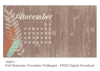 Stampin' Up! Nov Free Digital Desktop Wallpaper