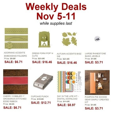 Dawn Olchefske, DOstamping, Stampin' Up! Weekly Deals 11/05/2013