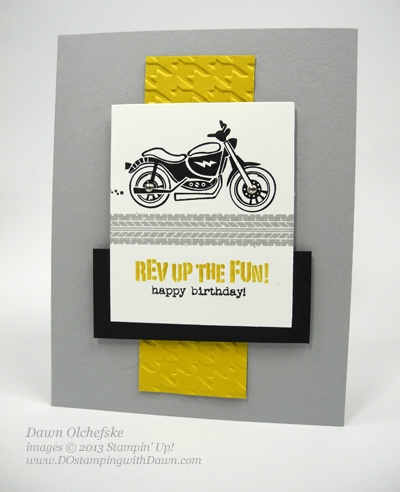 #dostamping, Dawn Olchefske, DOstamperSTARS Thursday Challenge, Stampin' Up! Rev up the Fun, QC Masculine card