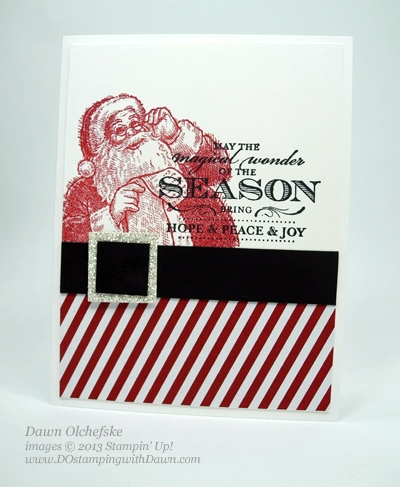 Stampin Up, Santa's List and Magical Season stamps, Dawn Olchefske, #DOstamping, Christmas Cards