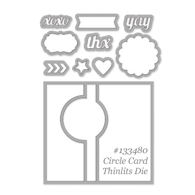 thinlits card dies, stampin up, dostamping, dawn olchefske, big shot, fun fold cards, Circle-Card-Thinlits