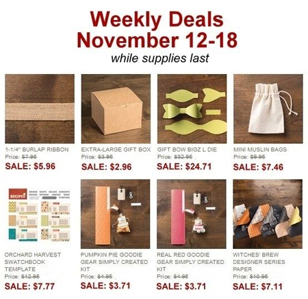 Dawn Olchefske, DOstamping, Stampin' Up! Weekly Deals 11/12