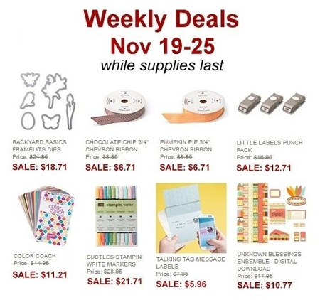 11-19 Stampin' Up! Weekly-Deal, dostamping, backyard basics framelits