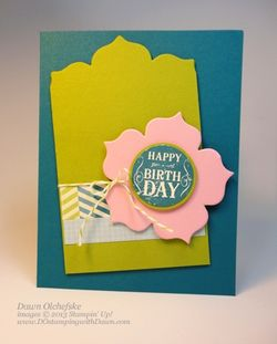stampin up, dostamping, dawn olchefske, floral frames framelits, partial cut framelit, blue ribbon