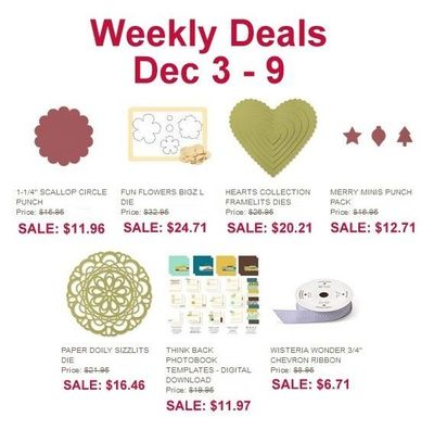 Dawn Olchefske, DOstamping, Stampin' Up! Weekly Deals12-03