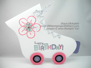 stampin up, dostamping, dawn olchefske, demonstrator, big shot, holiday stocking die, rollerskate, flower fest