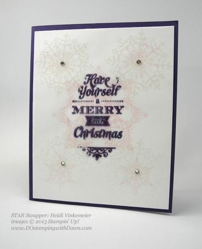 Heidi Vinkmeier,#dostamping, #stampinup #christmascards