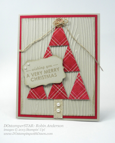 Robin Anderson, #dostamping #stampinup #christmascards