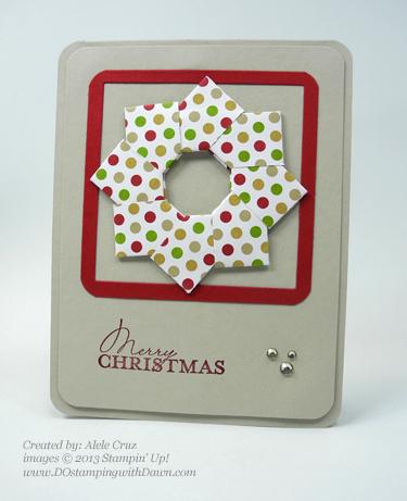 dostamping, stampinup, christmas card, Alele Cruz