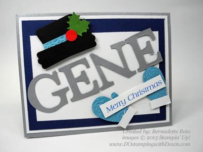 #dostamping, #stampinup #christmascards, #punchart Bernadette Baio