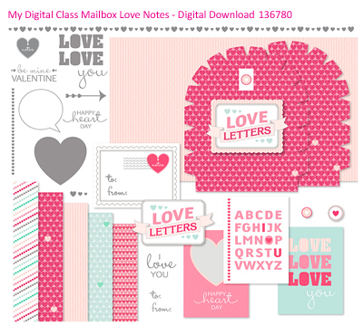#Dawn Olchefske, #DOstamping, #stampinup New Digital Downloads, Mailbox Love Notes Class