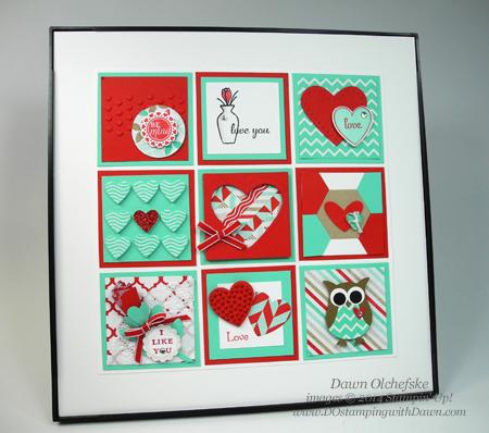 #dostamping #stampinup #valentine #sampler #freshprints #punch art, #2014occasionscatalog