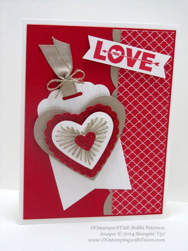 #dostamping #stampinup #loveyoutothemoon #valentine Bobbi Peterson