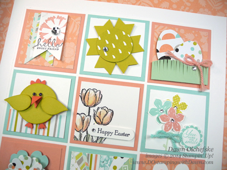 #dostamping #stampinup #seasonalsampler #wallart #home decor #easter #sweetsorbet #punchart #sab2014