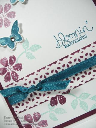 stampin up, dostamping, dawn olchefske, demonstrator,  bloomin marvelous, sab, sale-a-bration, stencil, delicate details lace tape