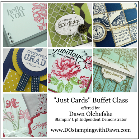 #dostamping #stampinup #dawnolchefske  #card buffet #TOGOclass #card kits #cardmaking #rubberstamping #diy #May2014