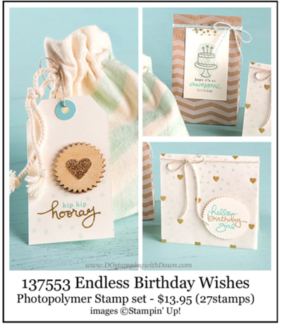 #endlessbirthdaywishes #photopolymer #dostamping #stampinup #dawnolchefske #birthday #papercrafting #craftsupplies