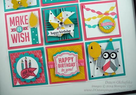 #birthday #seasonal sampler #Kaleidoscope #dostamping #stampinup #2014occasions #birthday #owlbuilderpunch #homedecor #diy #papercrafting #punchart