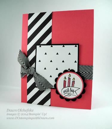 #cardmaking, #dawnolchefske, #diy, #dostamping, #papercrafting, #sketchchallenge, #stampinup, #thursdaychallenge #birthday #kaleidoscopeDSP