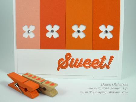 #dostamping #stampinup #dawnolchefske #2014incolor #craftsupplies #diy #cardmaking #TangeloTwist