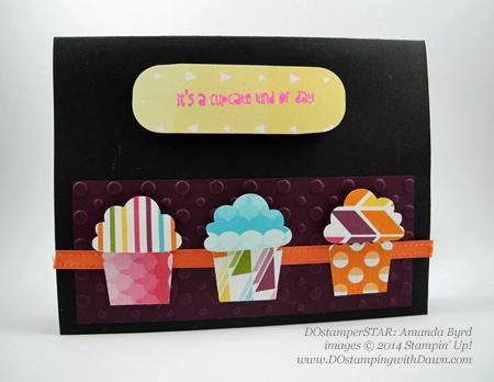 Amanda Byrd #stampin up #dostamping #dawnolchefske #cupcakebuilderpunch #punchart #birthday