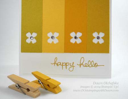 #dostamping #stampinup #dawnolchefske #2014incolor #craftsupplies #diy #cardmaking #HelloHoney