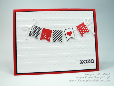 #dostamping #stampin up #SAB #SaleaBration #bannerpunch #banner blast #valentinesday, Jill Hilliard