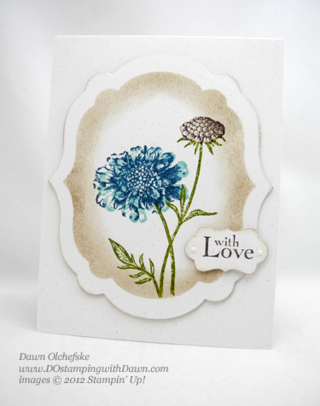 stampin up, dostamping, dawn olchefske, demonstrator, faux frame, field flowers, label collection framelits, decorative label punch
