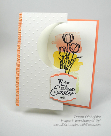 #dostamping #stampinup #dawnolchefske #cardmaking #diy #easterblessings #happywatercolor #foldedwindowcard