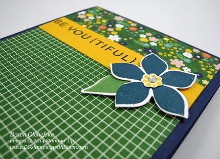 #DSC088 #cardmaking, #dawnolchefske, #diy, #dostamperstars, #dostamping, #papercrafting, #stampinup, #thursdaychallenge #flowerpatchbundle