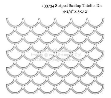 #dostamping #stampinup #stripedscallopthinlit #bigshot