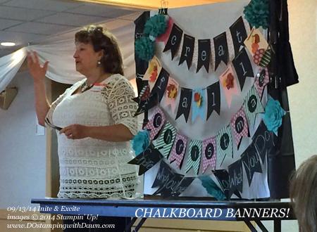 #dostamping #stampinup #uniteexcite #dawnolchefske #chalkboardbanner  Linda Larson
