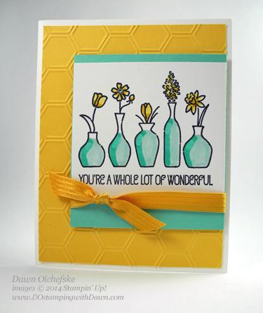 #dostamping #dawnolchefske #stampinup #vividvases #blendabilities #howdsheDOthat #cardmaking #rubberstamping #craftsupplies