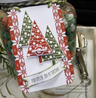 #cardmaking #dawnolchefske #diy #dostamping #papercrafting #stampinup #founderscircle #2014holidaycatalog #holidaytags #festivaloftrees #treepunch