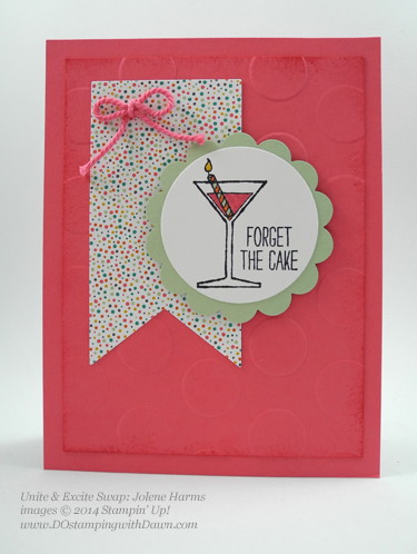 Unite & Excite swap with Stampin' Up!'s Making Spirits Bright, shared by Dawn Olchefske, dostamping  #birthday #cardmaking #stampinup