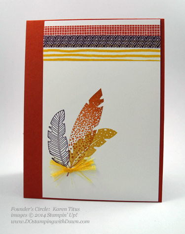 dostamping  #fall #cardmaking  #stampinup, Four Feathers shared by Dawn Olchefske,