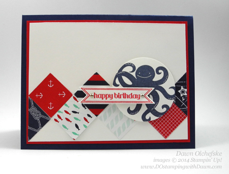Maritime & Sea Street birthday card created by Dawn Olchefske for DOstamperSTARS Thursday Challenge #106, dostamping  #birthday #male  #stampinup