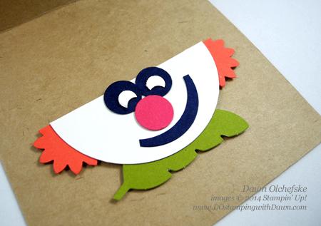 Clown Punch Art Easel card shared by Dawn Olchefske, dostamping  #paperpumpkin #sweetaspie #stampinup