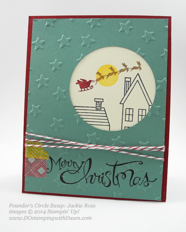 Holiday Home swap card received at Founder's Circle shared by Dawn Olchefske, #DOstamping #HolidayHome #stampinup